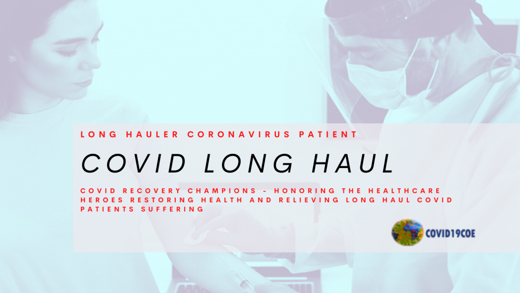 COVID LONG HAUL- Health Recovery Champions, relieving long haul covid suffering